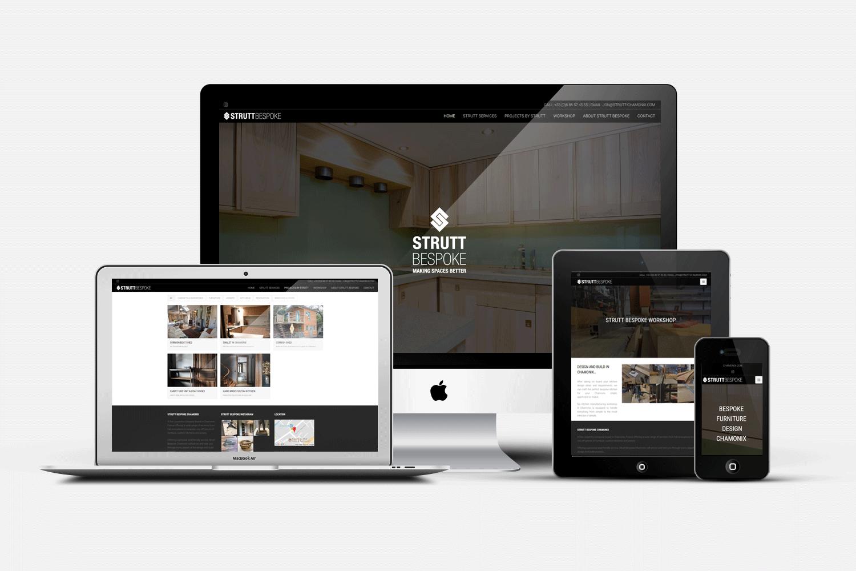 WEB DESIGN :: STRUTT CHAMONIX